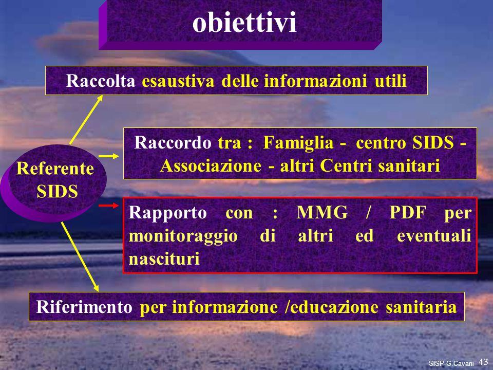 obiettivi Raccolta esaustiva delle informazioni utili