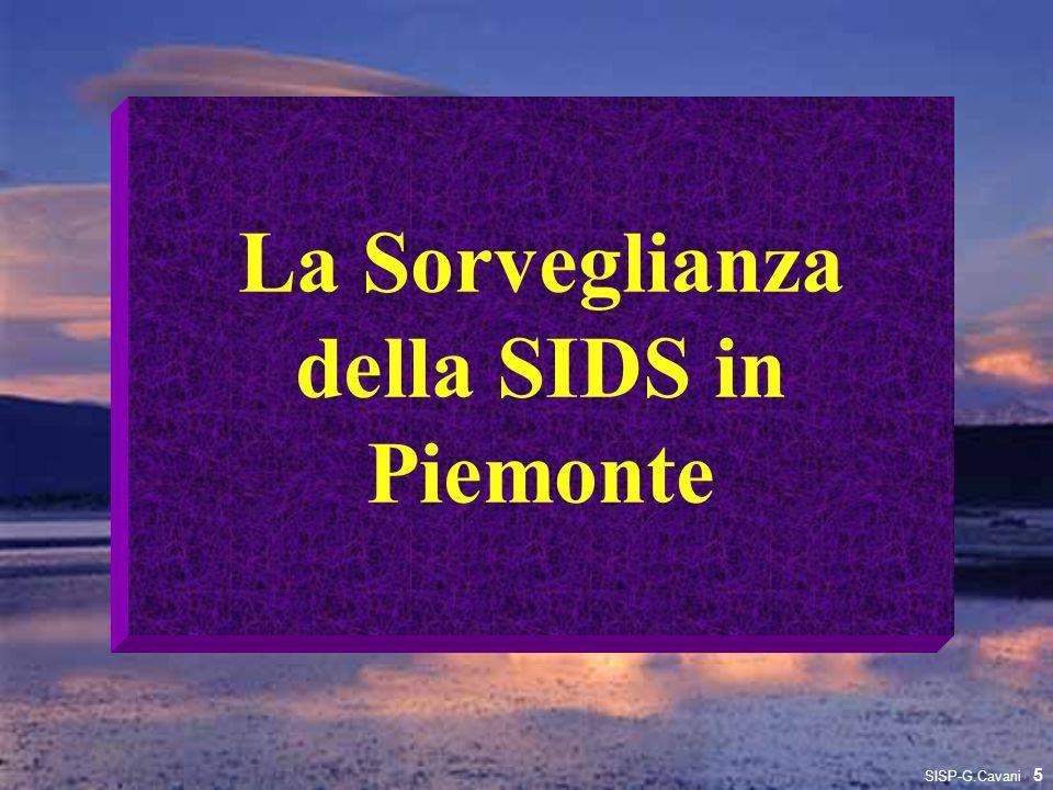 La Sorveglianza della SIDS in Piemonte