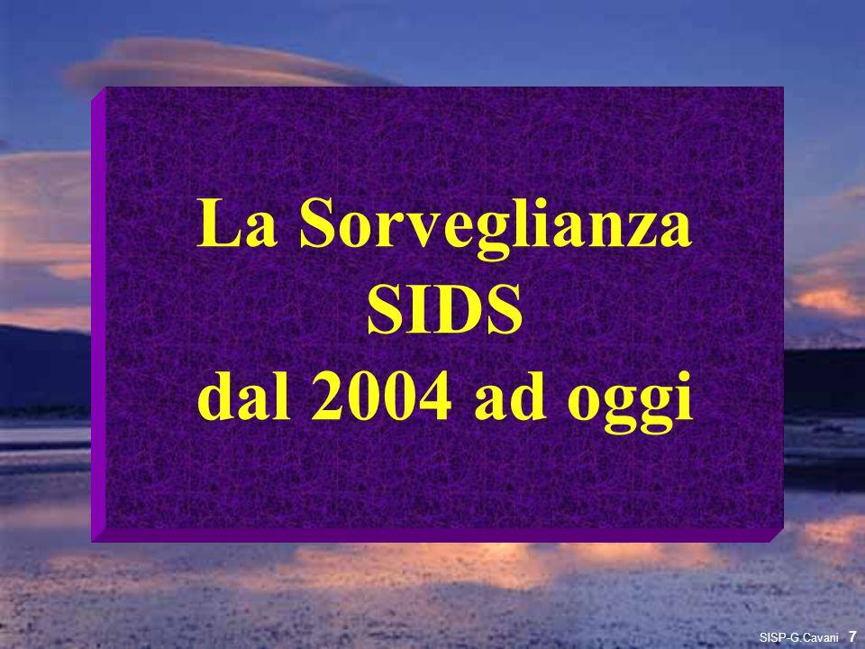 La Sorveglianza SIDS dal 2004 ad oggi