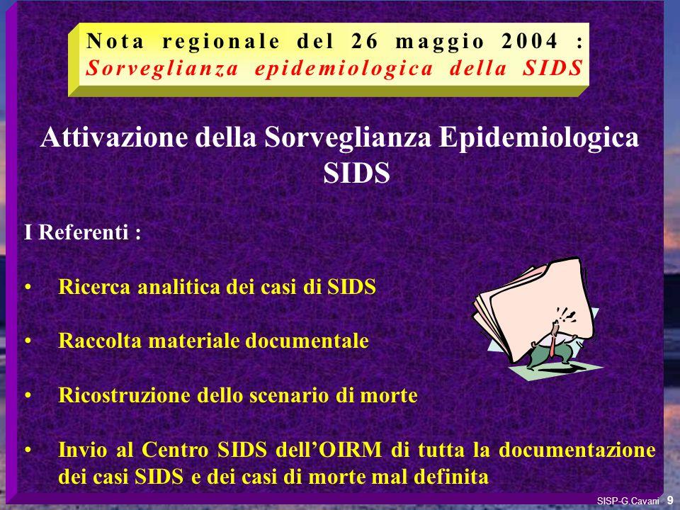 Attivazione della Sorveglianza Epidemiologica SIDS