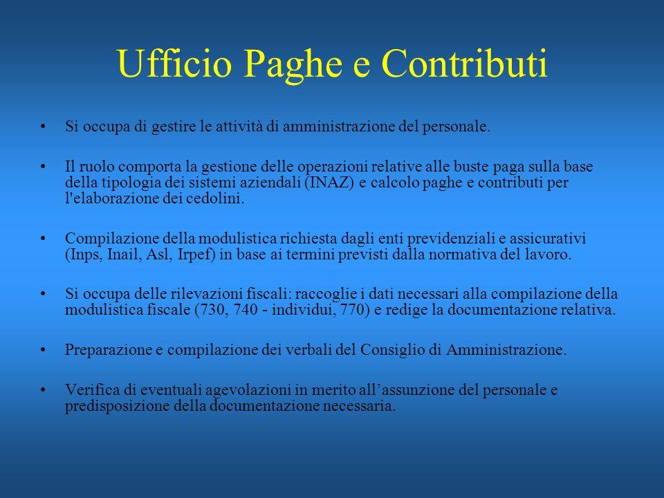 Ufficio Paghe e Contributi
