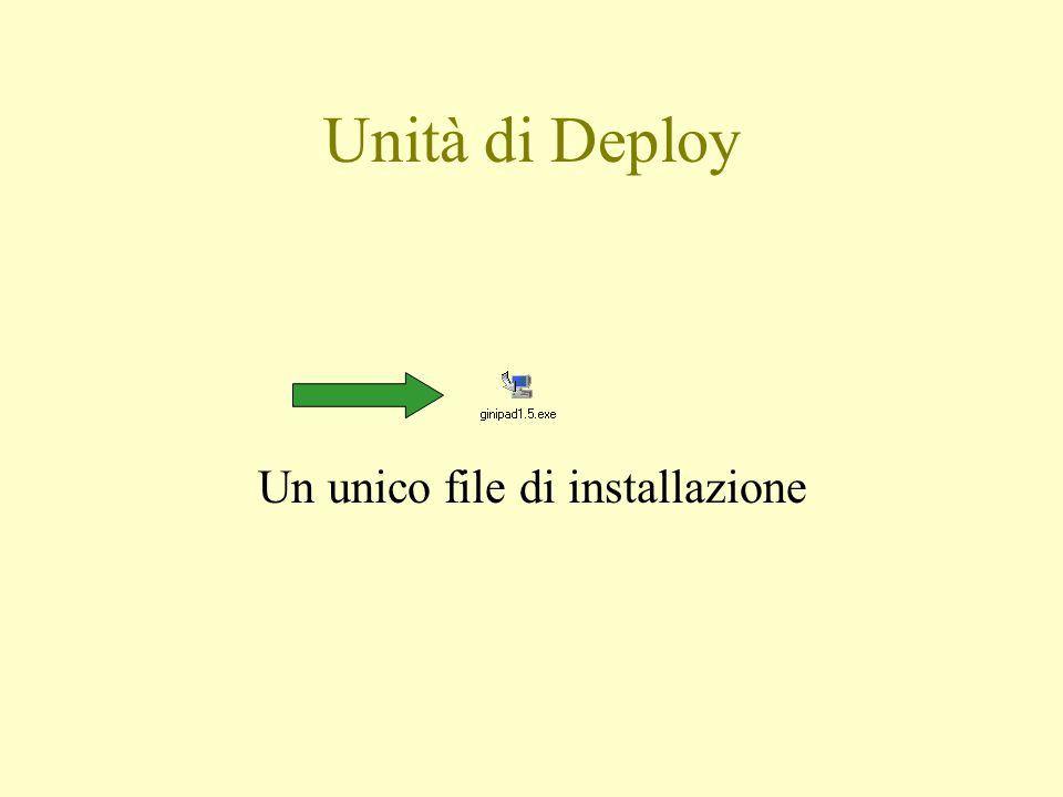 Un unico file di installazione