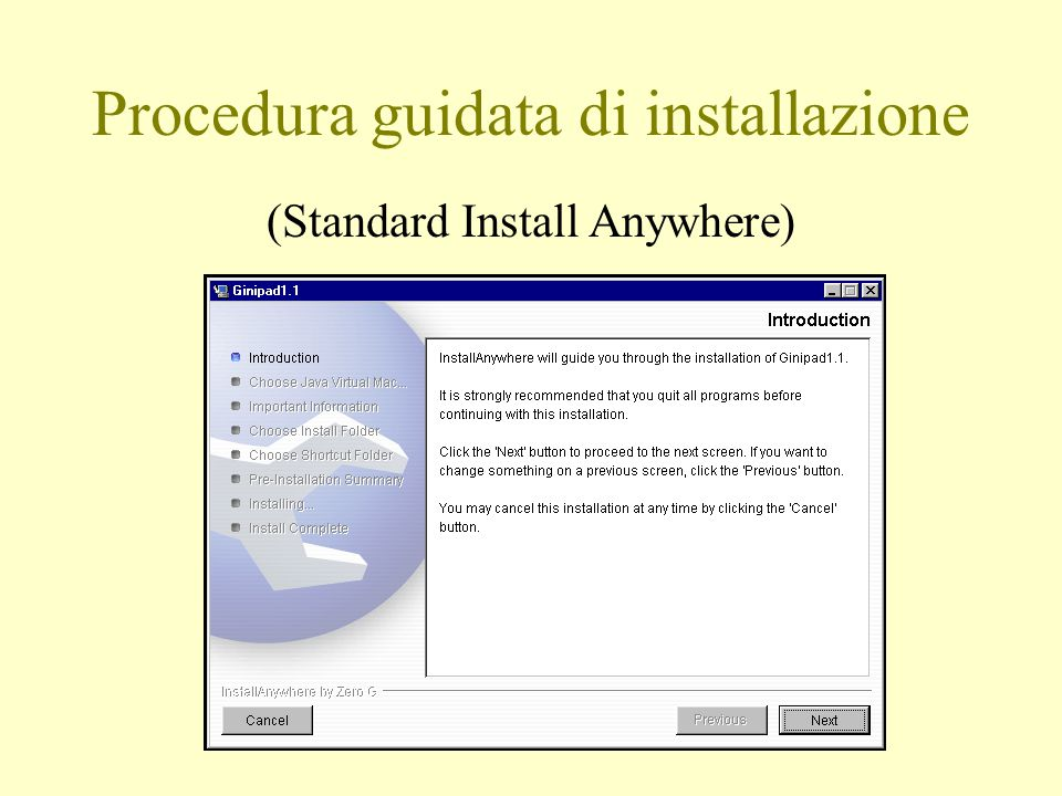 Procedura guidata di installazione