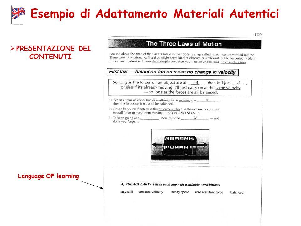 Esempio di Adattamento Materiali Autentici