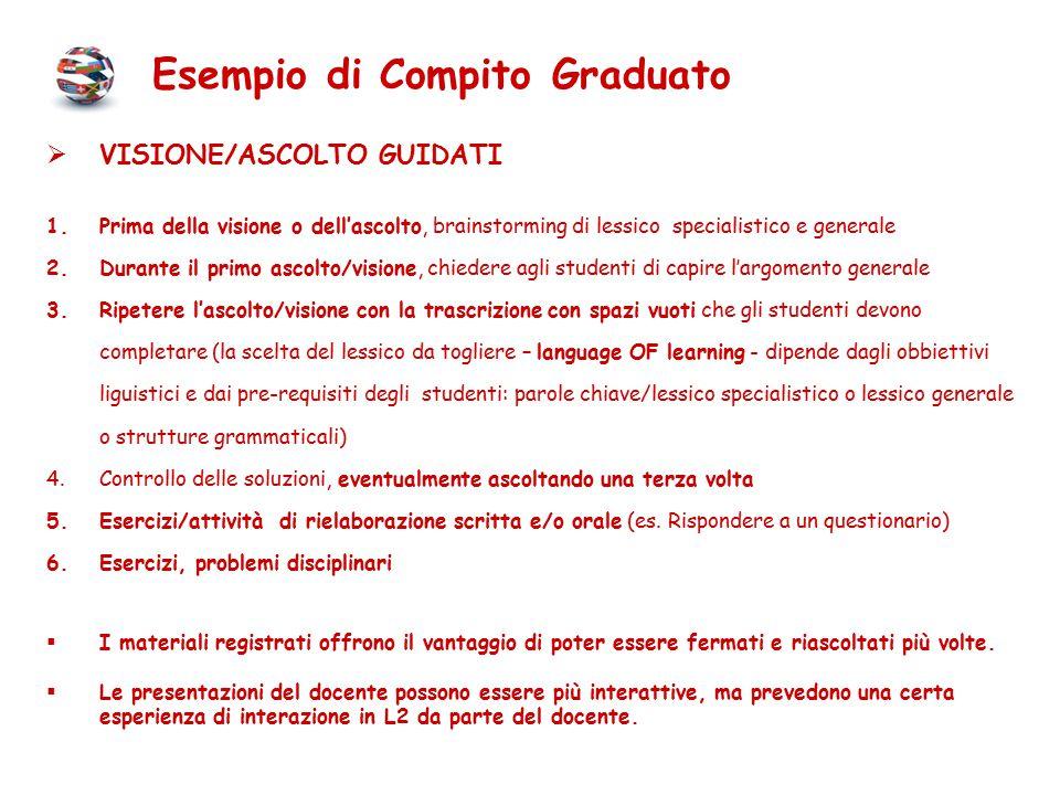 Esempio di Compito Graduato