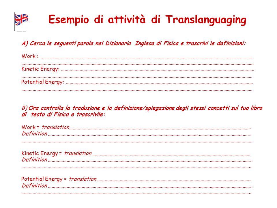Esempio di attività di Translanguaging