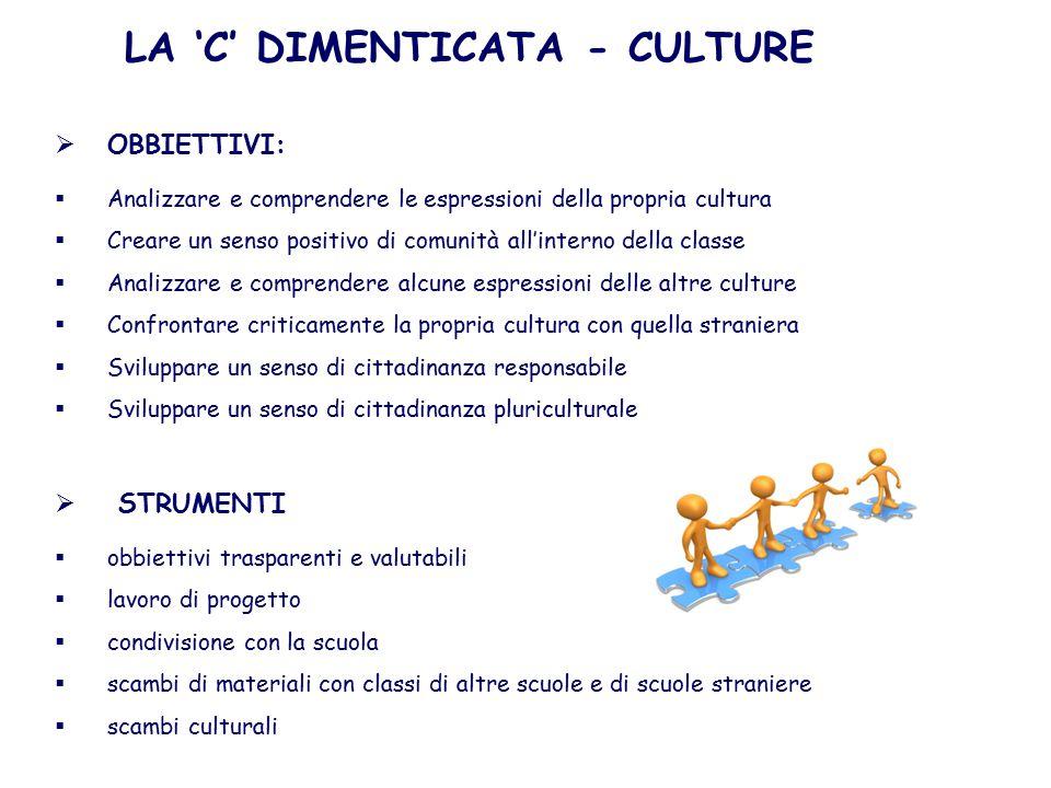 LA 'C' DIMENTICATA - CULTURE