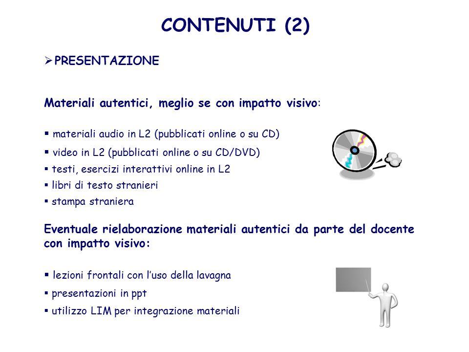 CONTENUTI (2) PRESENTAZIONE