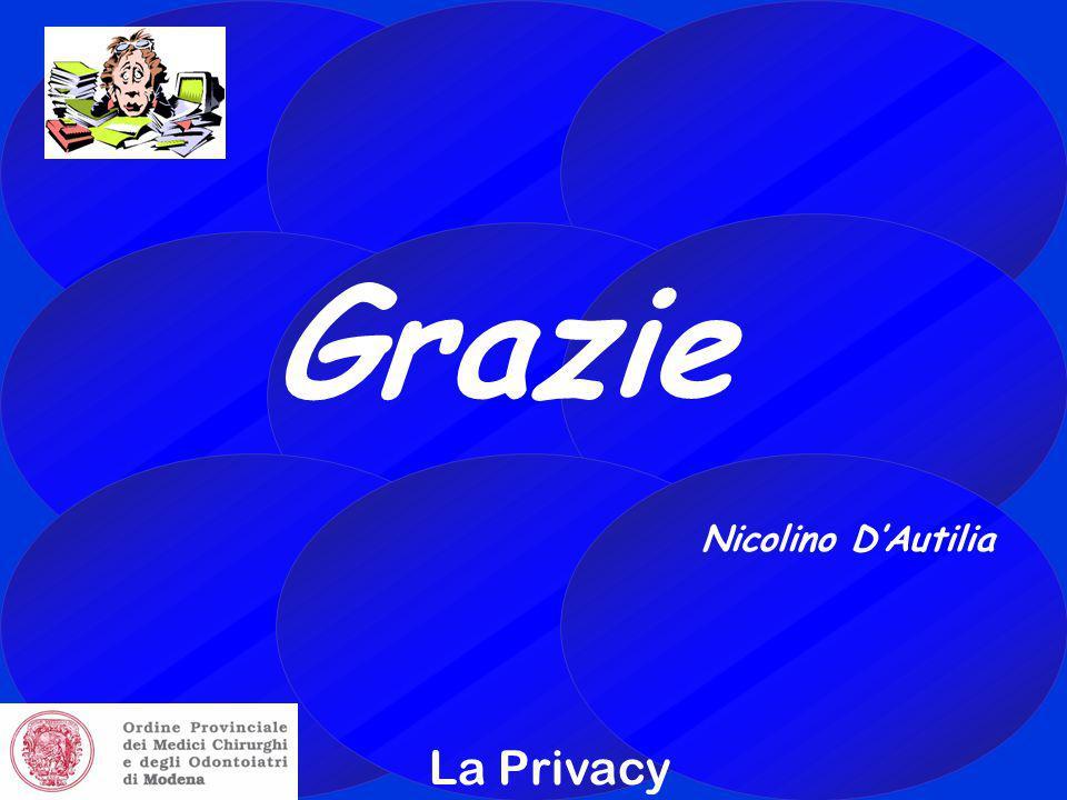 Grazie Nicolino D'Autilia La Privacy