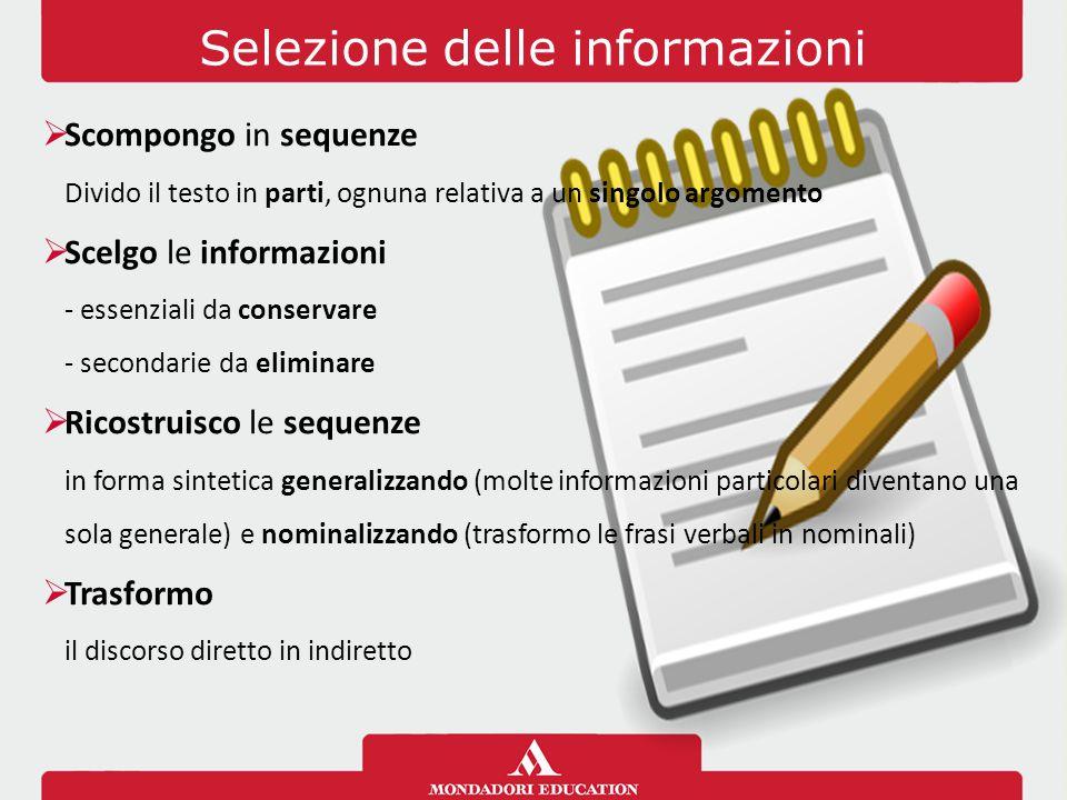 Selezione delle informazioni