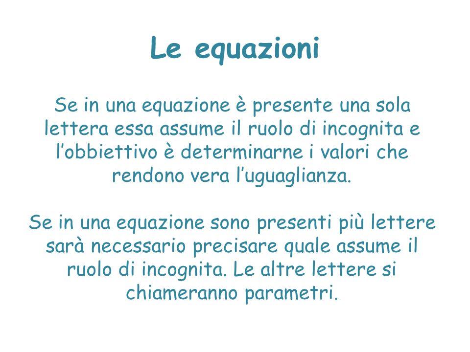 Le equazioni