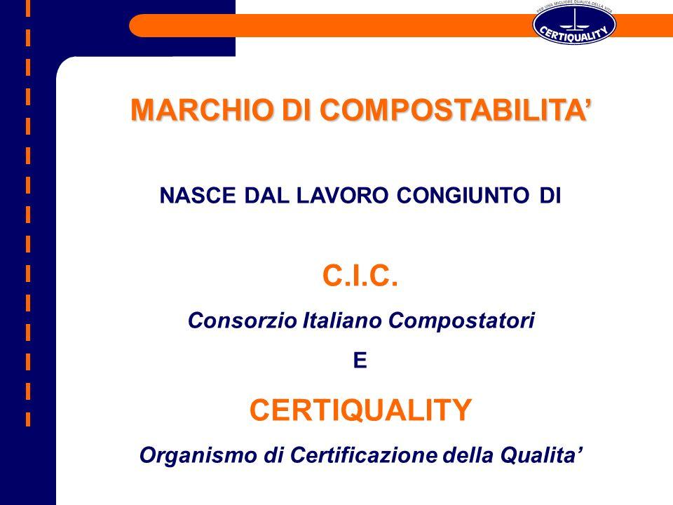 MARCHIO DI COMPOSTABILITA' C.I.C. CERTIQUALITY