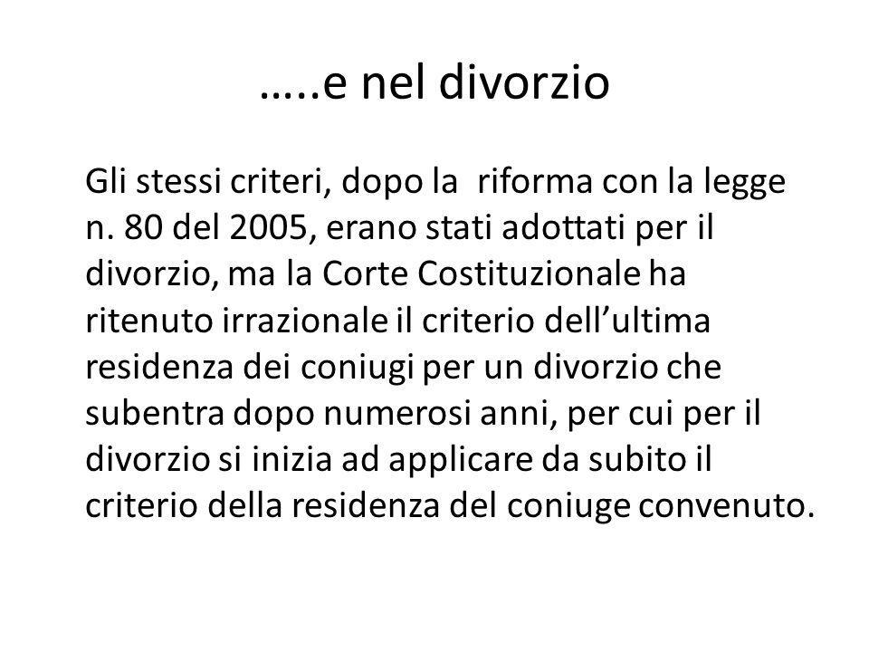 …..e nel divorzio