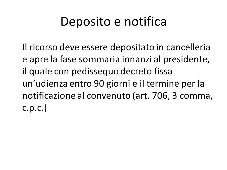 Deposito e notifica