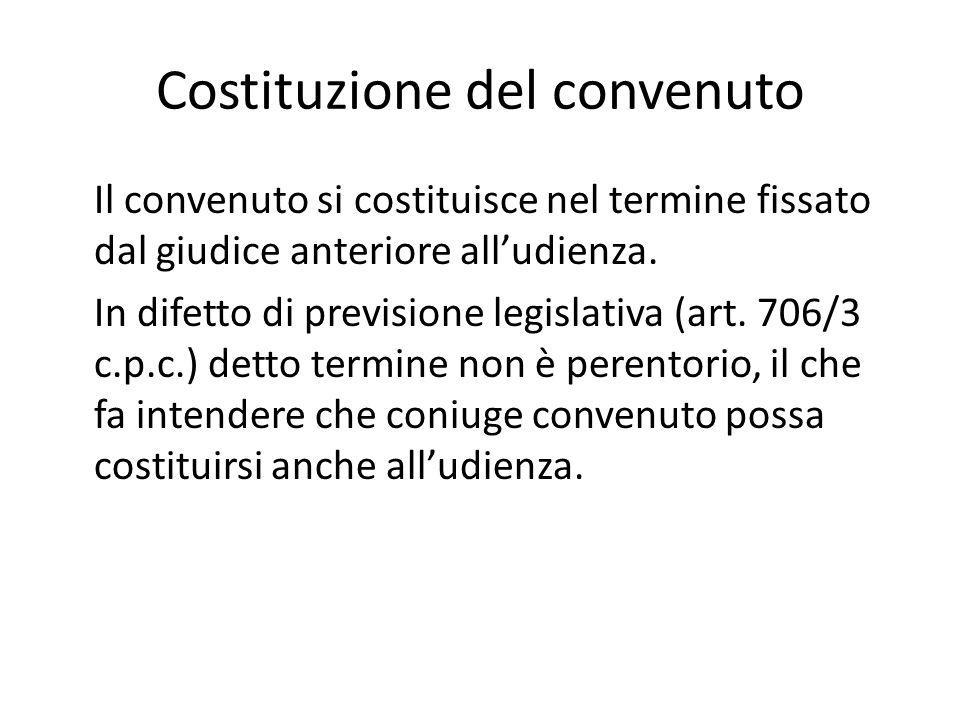 Costituzione del convenuto