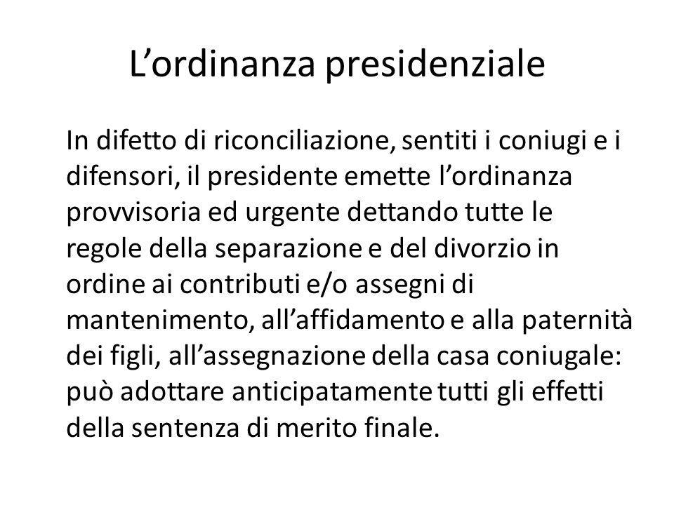 L'ordinanza presidenziale