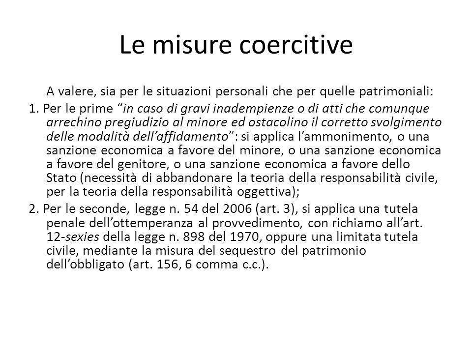 Le misure coercitive