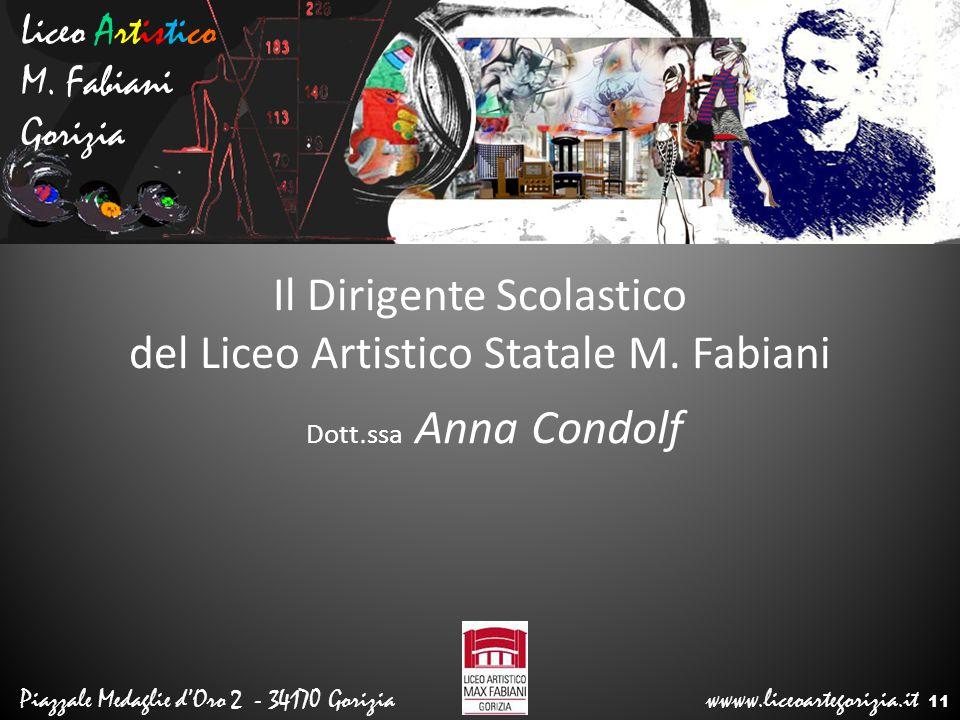 Il Dirigente Scolastico del Liceo Artistico Statale M. Fabiani