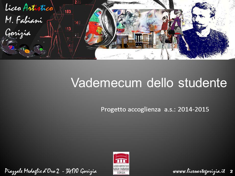 Progetto accoglienza a.s.: 2014-2015