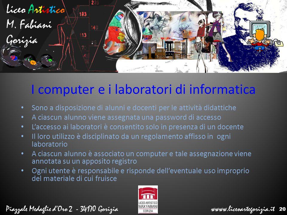 I computer e i laboratori di informatica