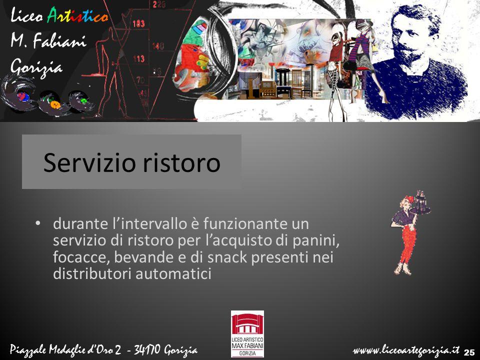 Servizio ristoro Liceo Artistico M. Fabiani Gorizia