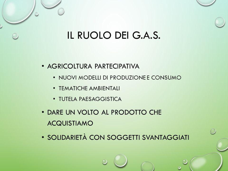 Il ruolo dei G.A.S. agricoltura partecipativa