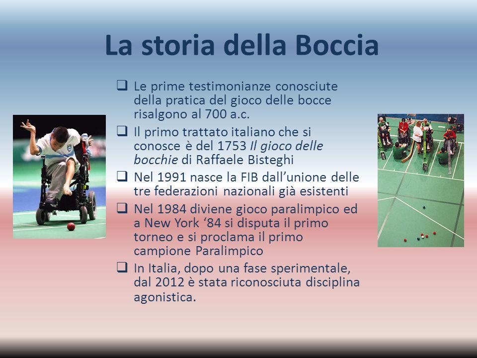 La storia della Boccia Le prime testimonianze conosciute della pratica del gioco delle bocce risalgono al 700 a.c.