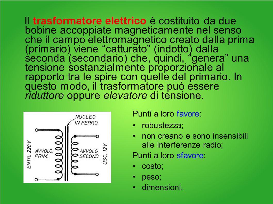 Il trasformatore elettrico è costituito da due bobine accoppiate magneticamente nel senso che il campo elettromagnetico creato dalla prima (primario) viene catturato (indotto) dalla seconda (secondario) che, quindi, genera una tensione sostanzialmente proporzionale al rapporto tra le spire con quelle del primario. In questo modo, il trasformatore può essere riduttore oppure elevatore di tensione.
