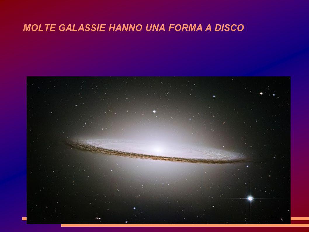 MOLTE GALASSIE HANNO UNA FORMA A DISCO