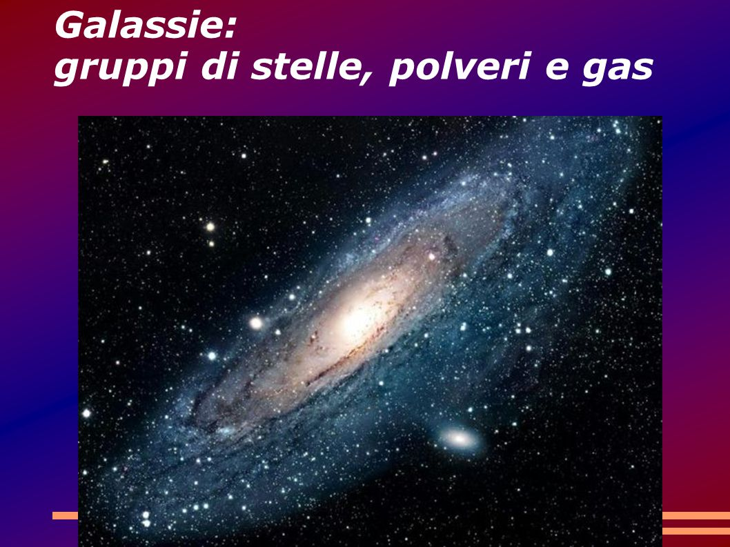 Galassie: gruppi di stelle, polveri e gas