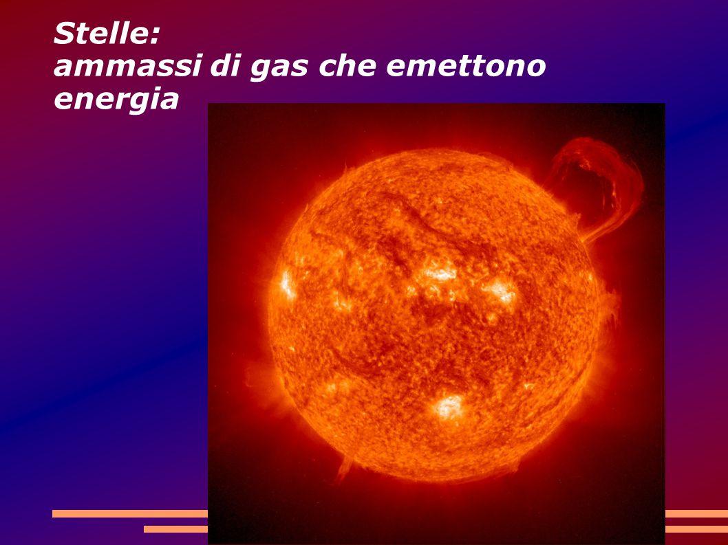 Stelle: ammassi di gas che emettono energia