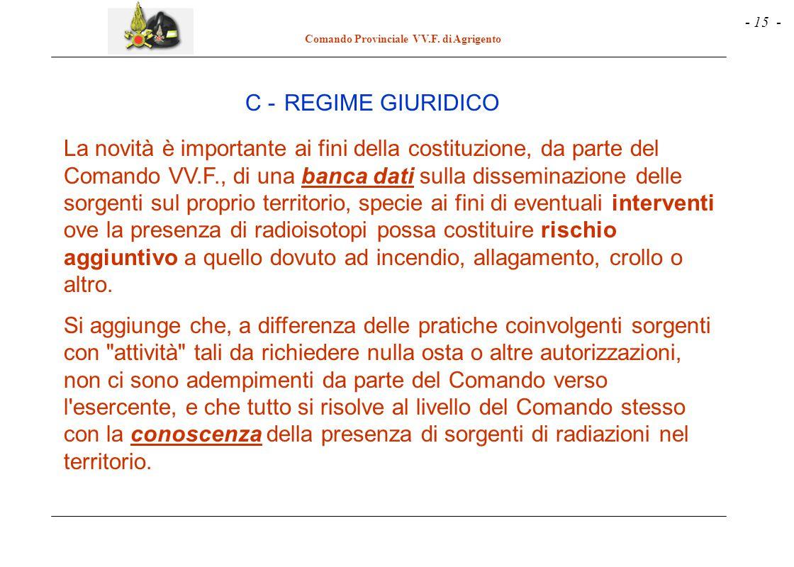 C - REGIME GIURIDICO