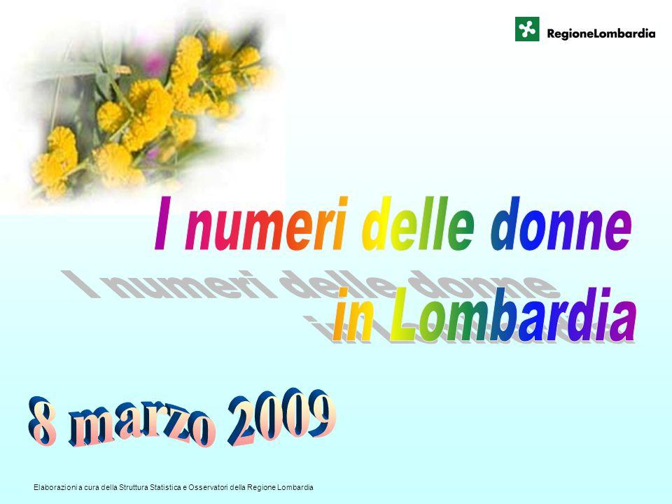 I numeri delle donne in Lombardia 8 marzo 2009