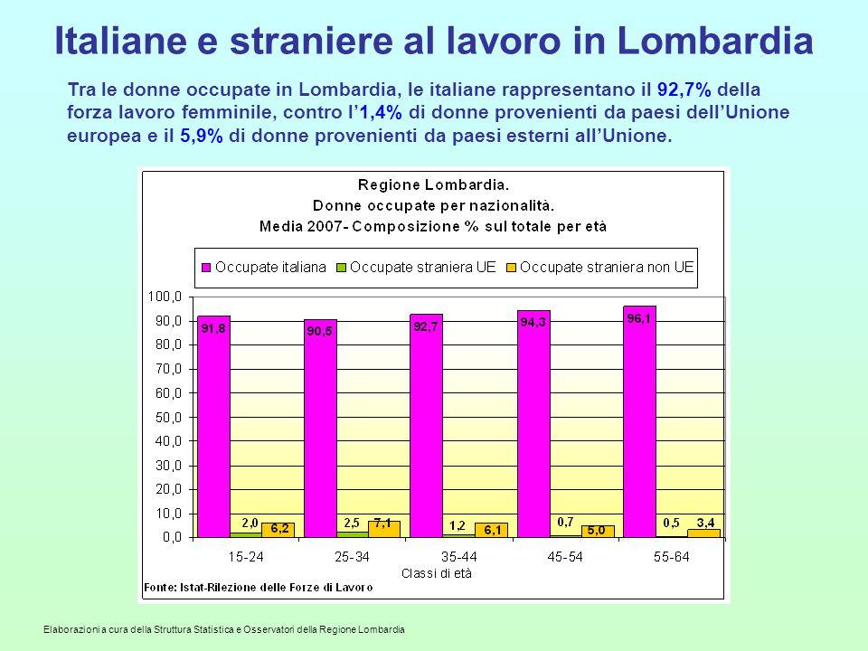 Italiane e straniere al lavoro in Lombardia