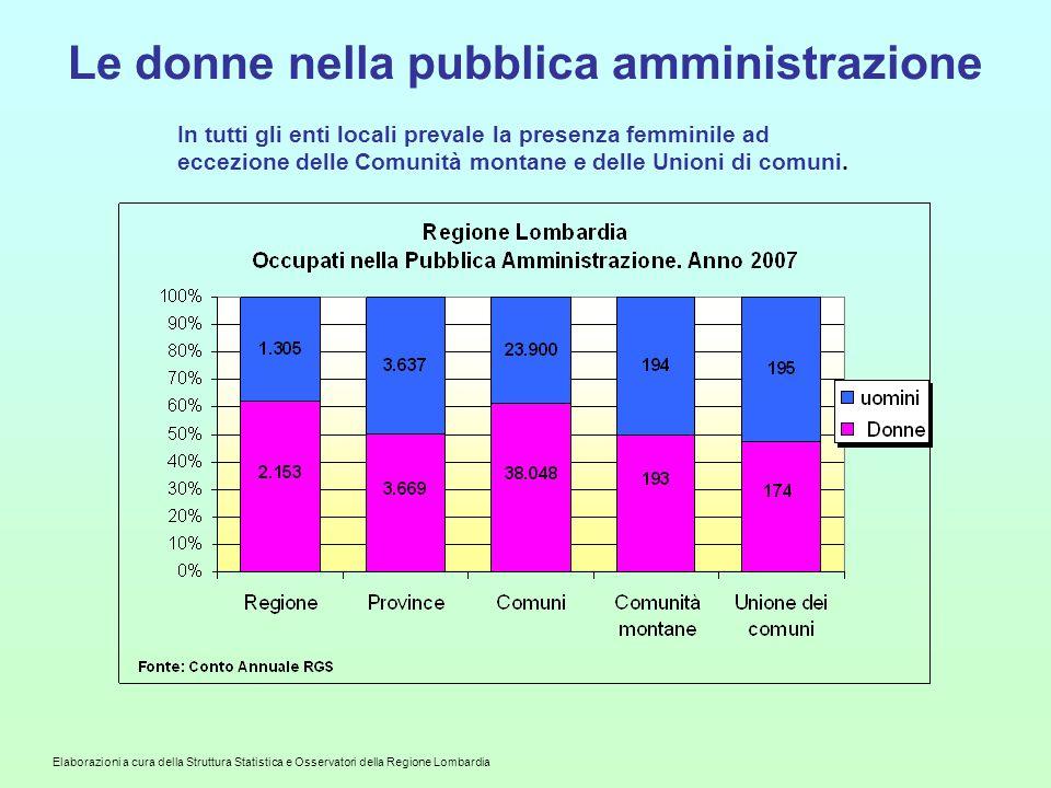 Le donne nella pubblica amministrazione