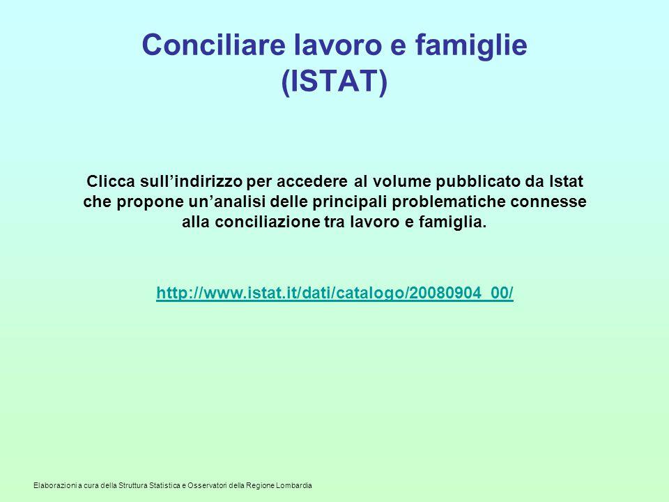Conciliare lavoro e famiglie (ISTAT)