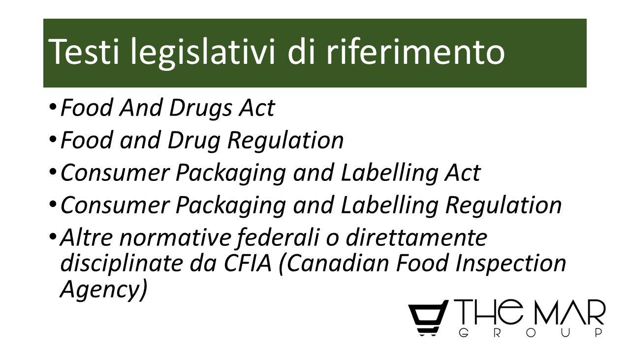 Testi legislativi di riferimento