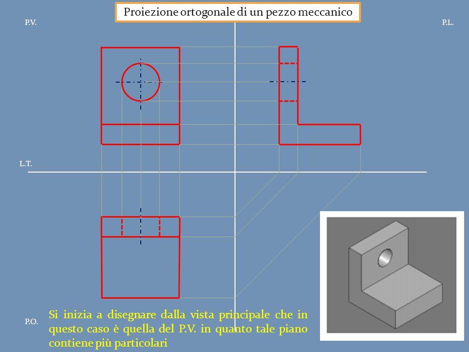 Proiezione ortogonale di un pezzo meccanico