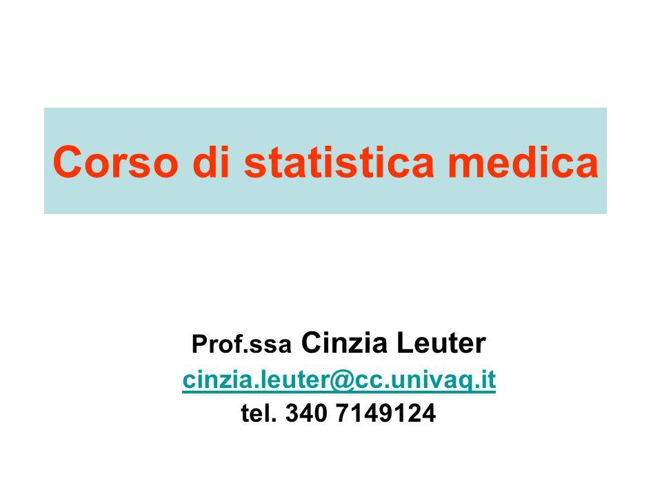 Corso di statistica medica