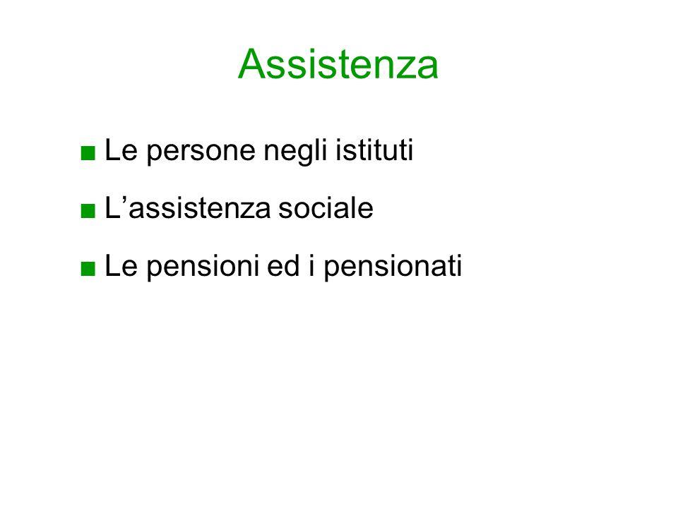 Assistenza Le persone negli istituti L'assistenza sociale
