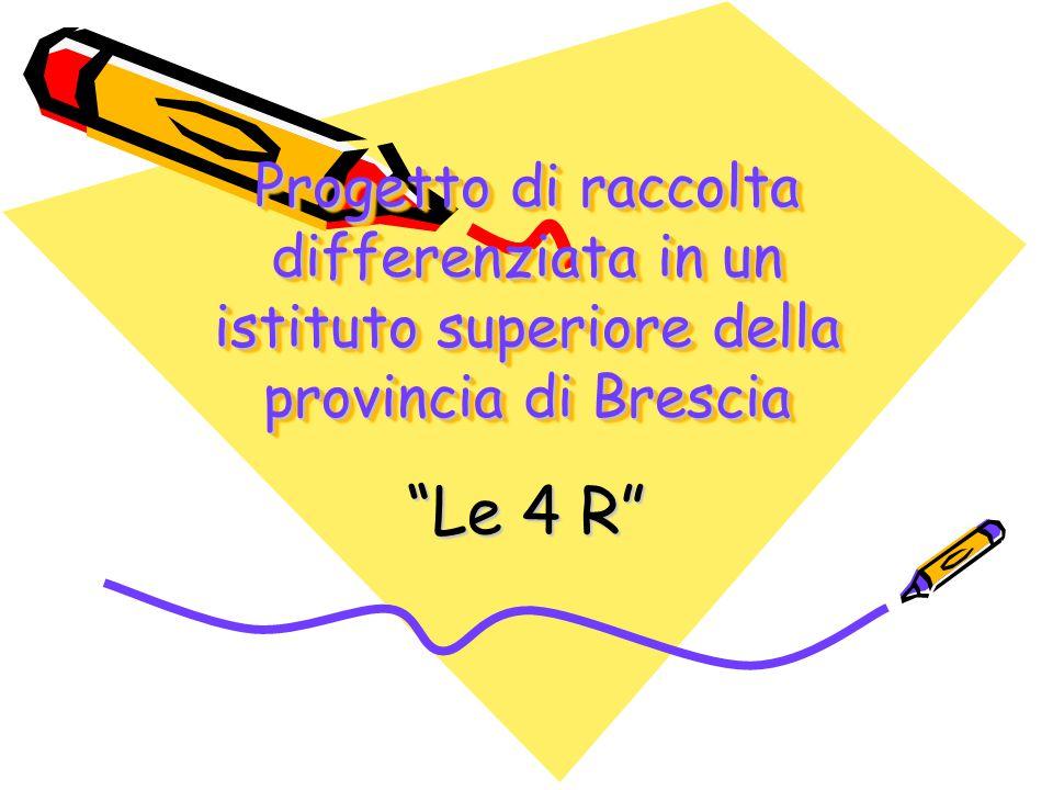 Progetto di raccolta differenziata in un istituto superiore della provincia di Brescia