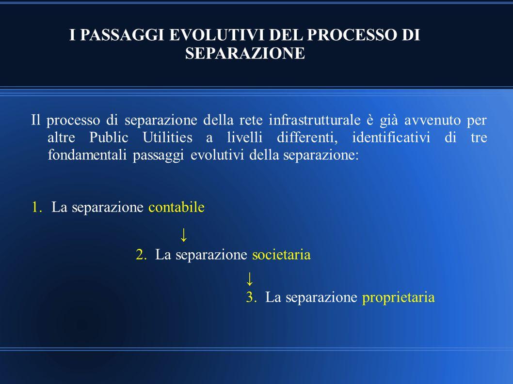 I PASSAGGI EVOLUTIVI DEL PROCESSO DI SEPARAZIONE