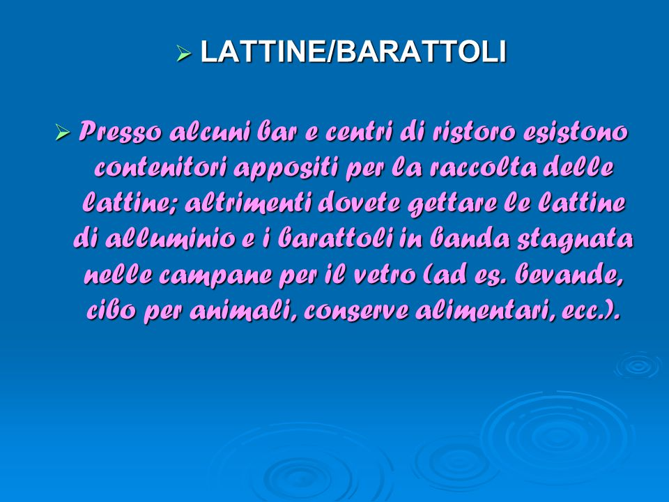 LATTINE/BARATTOLI