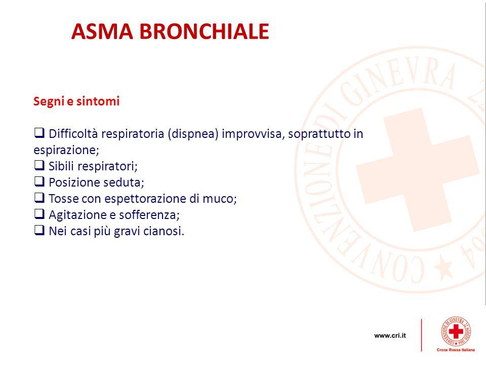 ASMA BRONCHIALE Segni e sintomi