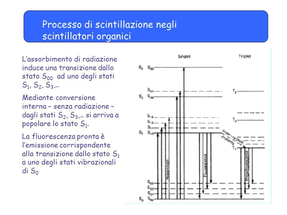 Processo di scintillazione negli scintillatori organici