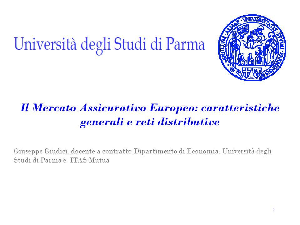 Il Mercato Assicurativo Europeo: caratteristiche generali e reti distributive