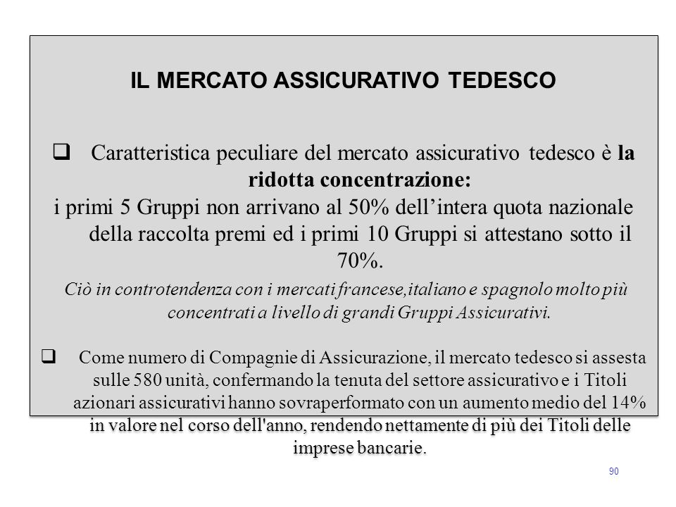 IL MERCATO ASSICURATIVO TEDESCO