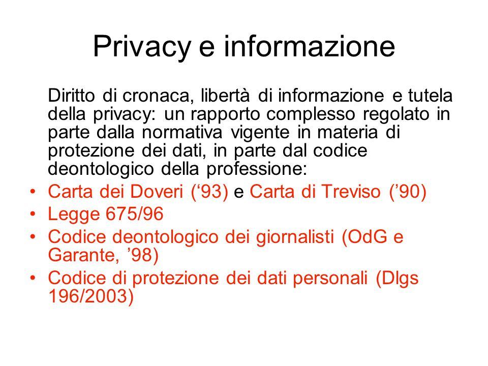 Privacy e informazione