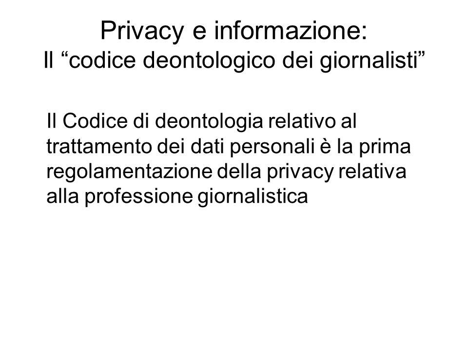 Privacy e informazione: Il codice deontologico dei giornalisti