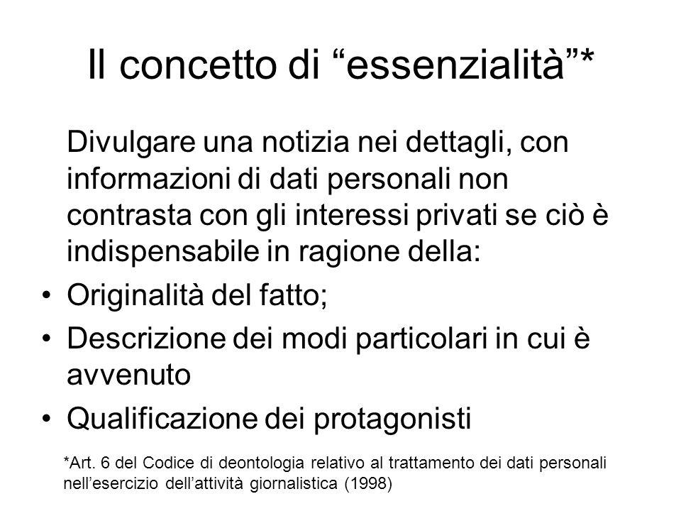 Il concetto di essenzialità *